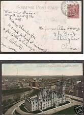 Canada Sc 90 on 1908 PPC to Shanghai, China