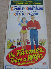 The Farmer Takes a Wife, Poster, 1952, U.S.A., Original, Betty Grable, Frank P.
