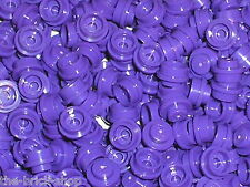 LEGO FRIENDS / NEW 25x Dark Purple LEGO 1x1 round plate ref 4073 / 2505 7052 ..