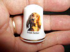 vintage IRISH SETTER Dog Collectible ceramic Thimble figurine Lim.Edition