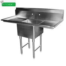 """1 Compartment Sink 24"""" x 24"""" w/ 2 Drainboards Nsf"""