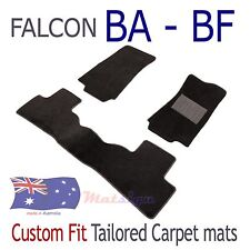 Custom Fit Tailored Floor Mats To suit Ford Falcon Sedan BA - BF Black Carpet