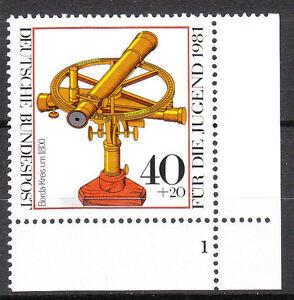 BRD 1981 Mi. Nr. 1090 Postfrisch Eckrand 4 Formnummer 1 TOP!!! (9806)