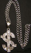Rap Hip Hop Rhinestone Us Dollar Pendant Necklace Chain