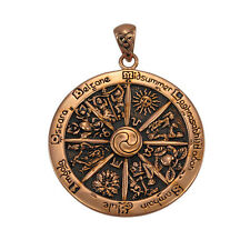 Dryad Designs Wheel of the Year  Copper Pendant designed by Paul Borda