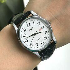 Clásico Luch Urss Inglés Día Cuarzo Hombres Reloj Fecha Probado Soviético Export