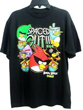 Angry Birds Space Black Spaced Out!!! Boy's Tee T-Shirt Size: YL