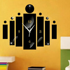 Modern 3D DIY Large Wall Clock Acrylic Mirror Sticker Number Watch Home Decor