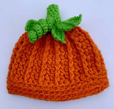 Handmade Crochet Pumpkin Hat Gift Baby 1-3 Years Halloween