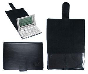 CalcCase Schutztasche für Franklin 1660-Serie BDS-1860 schwarzes Leder