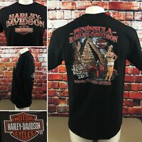 2012 Harley Davidson Men's XL Double Sided T-Shirt World Rally Mexico Girl (56)