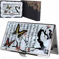 Business Card Case Holder ID Credit Card Case Mother of Pearl Made Korea C1018