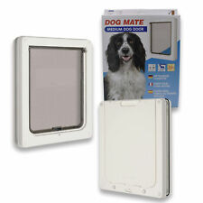 Dog Door Flap Medium Size White Cat Door Flap Size 26cm x 22cm