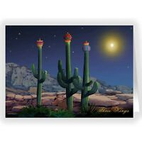 Three Wise Cacti Christmas Card - 18 Cards 19 Envelopes *40024