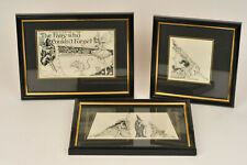 """Grace Beuzeville Foyster 1925 Orig. Ink Drawings """"The Fairy Who Couldn't Forget"""""""