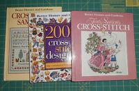3 BH&G Cross Stitch Books Samplers Four Seasons 2001 Cross Stitch Designs