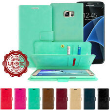 For iPhone Galaxy LG Dual Flip Shockproof 9 card Leather Wallet Case Cover Bag