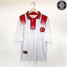 1996/98 TURKEY Vintage adidas Away Football Shirt Jersey (L) Euro 96
