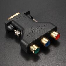 3 RCA YUV RGB Video Female To HD15-Pin VGA Styple Component Video Jack Adapter