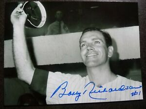 BOBBY RICHARDSON Authentic Hand Signed Autograph 4X6 Photo MICKEY MANTLE YANKEES
