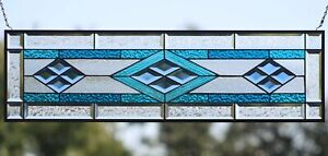 """""""Color is Power """"Beveled Stained Glass Window Panel-Sidelight/Transom >3 ft."""