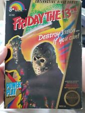 Friday the 13th NES Game (w/Instructions & Box)