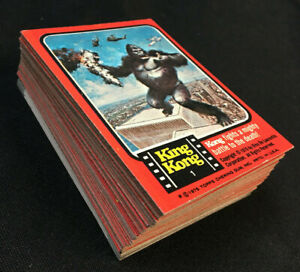 KING KONG 55 CARD + STICKERS COMPLETE SET 1976