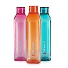 Cello Venice Plastic Water Bottle Set - 3 Pieces Multicolored (1 Litre Each)
