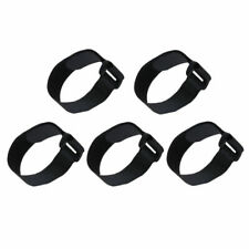 5pcs 30CM Hook and Loop Fastener Cinch Strap Cable Tie Black Band Luggage Strap