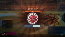 Rocket Liga PS4-Aether RLCS Ventilador ruedas limitada de recompensa