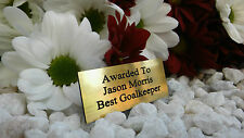 PERSONALISED ENGRAVED PLAQUE 5x2cm MEMORY BOX/TROPHY/AWARDS/PICTURE FRAME GOLD