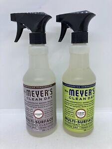 2 Mrs. Meyers Clean Day Multi Surface Cleaner Lavender & Lemon Verbena 16oz Each