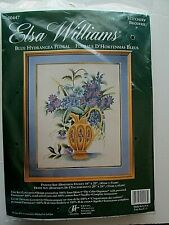 Elsa Williams Stitchery Kit 00447 Blue Hydrangea Floral G30