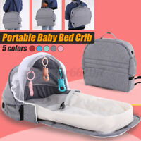 Foldable Portable Baby Bed Sets Backpack Crib Nursery Travel Cot Mosquito Net AU