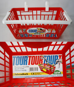 RARE VINTAGE 90'S RED BICYCLE BASKET TOUR LENA MADE IN GERMANY NEW NOS !