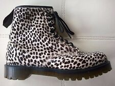 DOC DR MARTENS WHITE TOPOS HAIR-ON CHEETAH LEOPARD ANIMAL BOOTS RARE UNISEX 6UK
