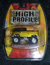 2007 JADA TOYS HIGH PROFILE VOLKSWAGEN BUS PICKUP GOLD AND BLACK #053 VHTF !!