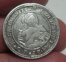 "1847 JB (COSTA RICA) 1 REAL (SILVER) ""REFORMAS PROCLAMADAS""-ERROR BACKWARDS ""B"""