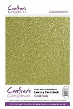 Crafter's Companion Scrapbooking Craft Luxury Cardstock Pack - Gold (250gsm)