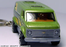 KEY CHAIN 1971~1996 GREEN CHEVY VAN G10/G20 CHEVROLET NEW CUSTOM LIMITED EDITION