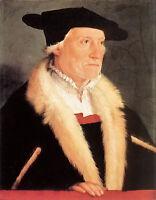 Oil painting christoph amberger - portrait of the cosmographer sebastien munster