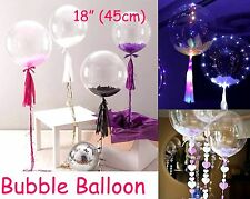 "Bubble Transparent Clear Round Balloon Large 18"" 45cm Wedding Decoration"