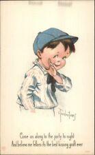 Charles Twelvetrees - Little Boy BEST KISSING GRAFT EVER c1915 Postcard