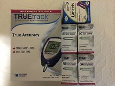 TRUETrack Blood Glucose (200) Test Strips with 100 Lancets and METER