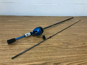 "🎣 Shakespeare Amphibian Blue Spincast Reel and Fishing Rod 5' 6"" Combo"