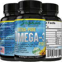 ULTRA-PURE OMEGA-3 FISH OIL, 800mg EPA & 600mg DHA Pharmaceutical Grade