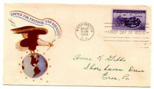 FIRST DAY ISSUE COVER U.S. 3 CENT POSTAGE STAMP CORREGIDOR 1944 WWII VINTAGE