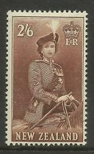 NEW ZEALAND 1953-54 2/6d QUEEN ELIZABETH II 1v MINT