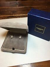 MIKIMOTO Pearl Earrings Authentic antique Silver Vintage