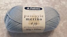 Patons Patonyle Merino 4 Ply #1033 Light Blue Sock Yarn 50g